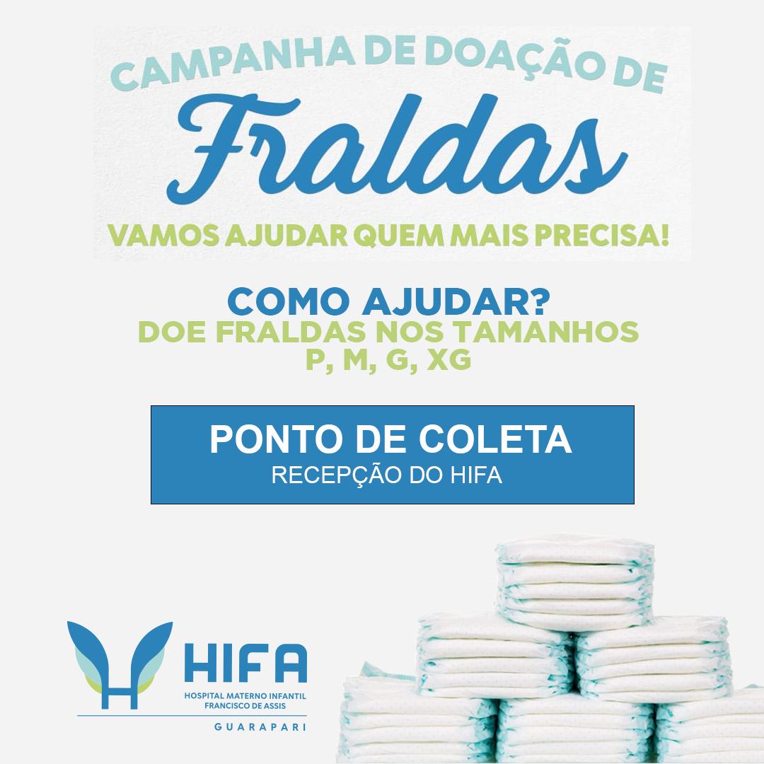 HIFA Guarapari recomeça campanha para arrecadação de fraldas